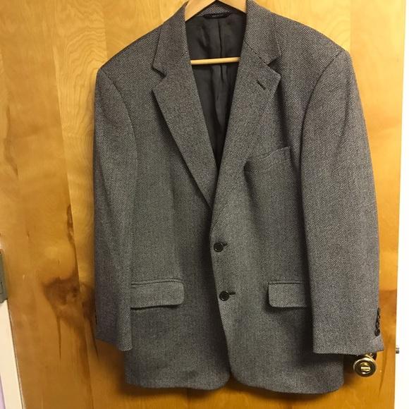 Brooks Brothers Other - Brooks Brothers Wool blk/wht herringbone blazer